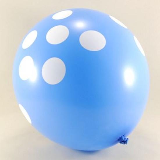 Mavi Puantiyeli 12 li Balon Seti