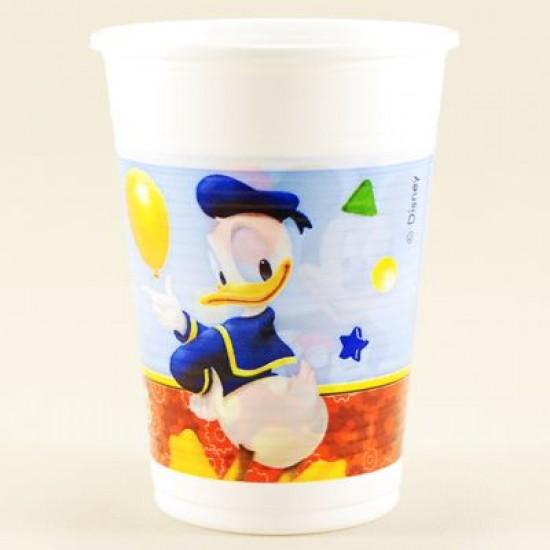 Mickey Mouse Temalı Orjinal Lisanslı Plastik Bardak 8 Adet