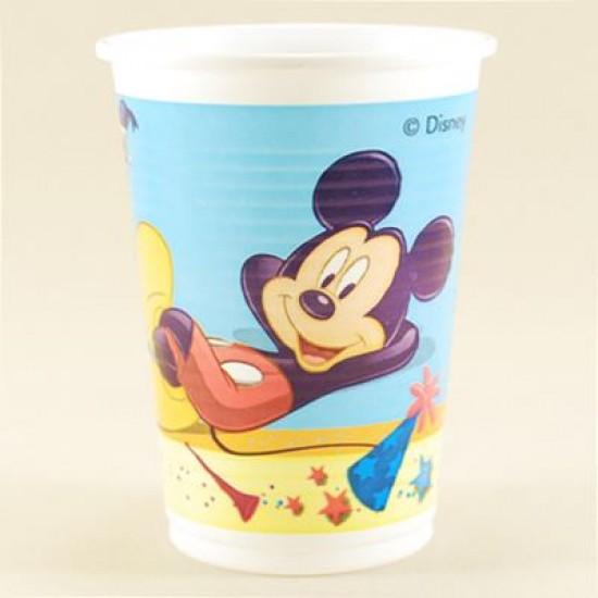Mickey mouse Temalı Sarı Orjinal Lisanslı Plastik Bardak 8 Adet