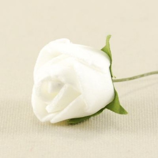 Beyaz Gül Lateks 1.5 Cm Mini Boy 10 Adet