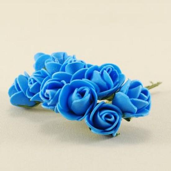 Koyu Mavi Gül Lateks 1.5 Cm Mini Boy 10 Adet