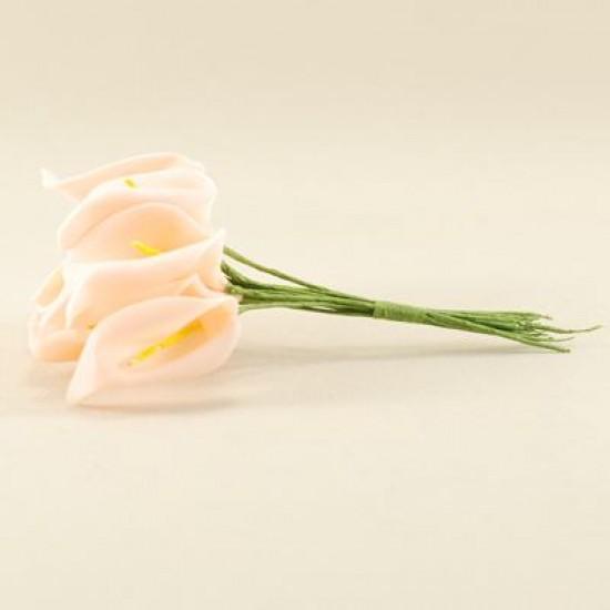 Gala Çiçeği Pembe Lateks Büyük Boy 10 Adet