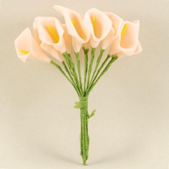 Gala Çiçeği Pembe Lateks Küçük Boy 10 Adet