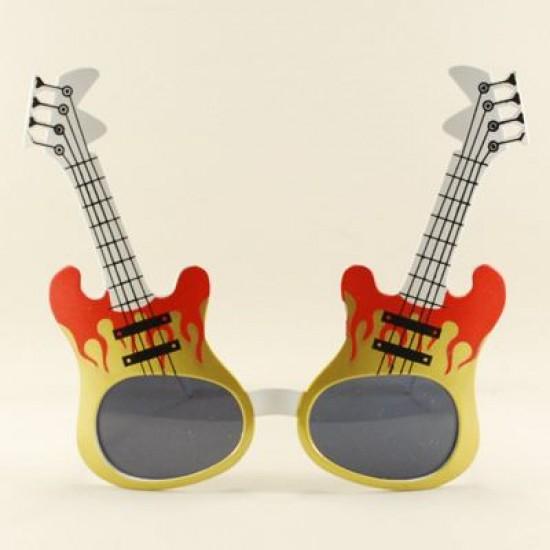 Elekro Gitar Şeklinde Parti Gözlüğü