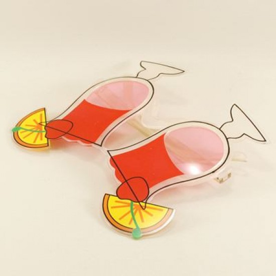 Kokteyl Bardağı Pembe Parti Gözlüğü