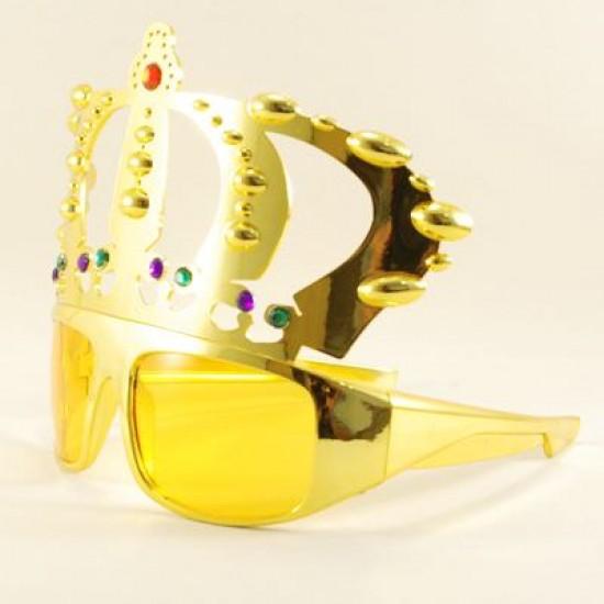 Kral Tacı Altın Rengi Parti Gözlüğü