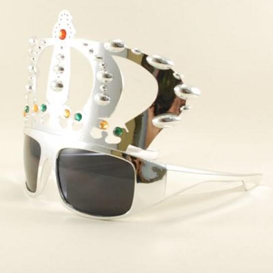 Kral Tacı Gümüş Rengi Parti Gözlüğü Parti Malzemesi