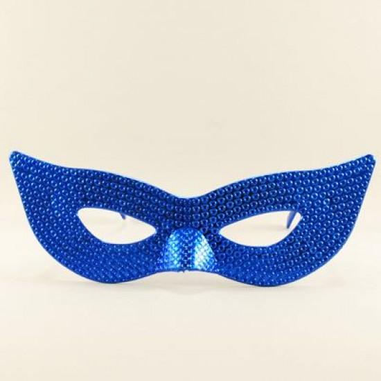 Mavi Mask Şeklinde Parti Gözlüğü