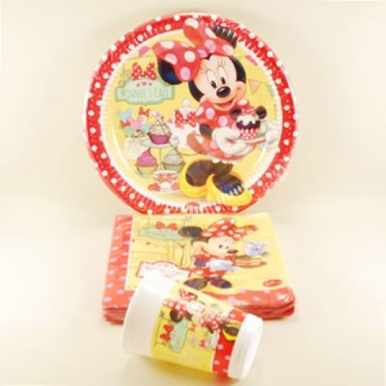Minnie Mouse Ve Cupcake Konsept Parti Seti