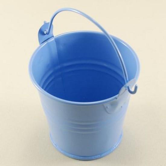 Mavi Metal Sunum Kovası Orta Boy 6.5 Cm X 6 Cm