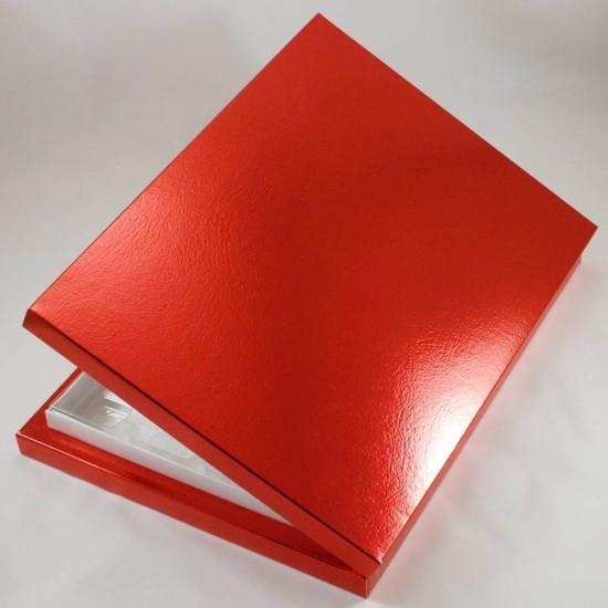 24 Bölmeli Madlen Çikolata Kutusu Kırmızı Renkli