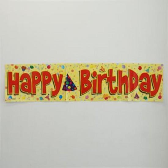 Happy Birthday Doğum Günü Pankartı 120X23Cm