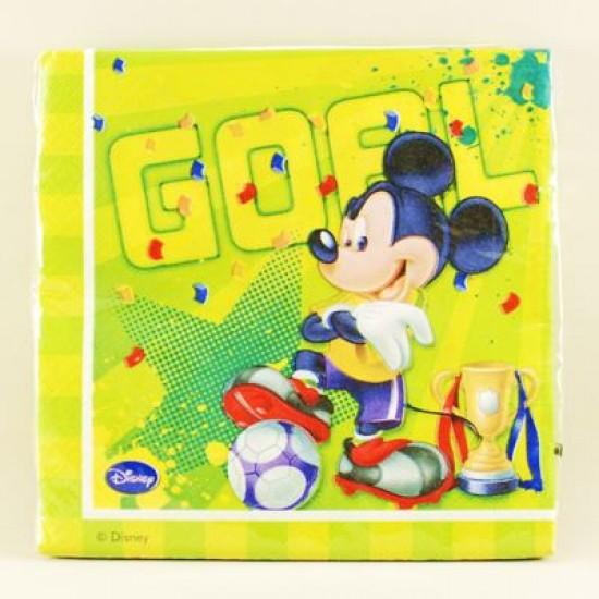 Mickey 28 Futbol Temalı Orjinal Lisanslı Peçete