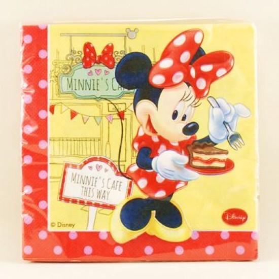 Minnie Ve Cupcake Temalı Orjinal Lisanslı Peçete