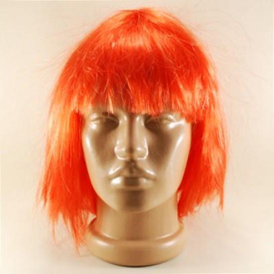 Kırmızı Renkli Küt Saç Peruk