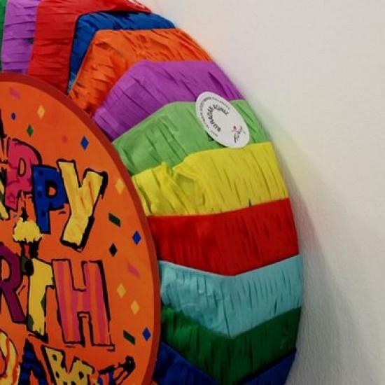 Rengarenk Happy Birthday Yuvarlak Pinyata