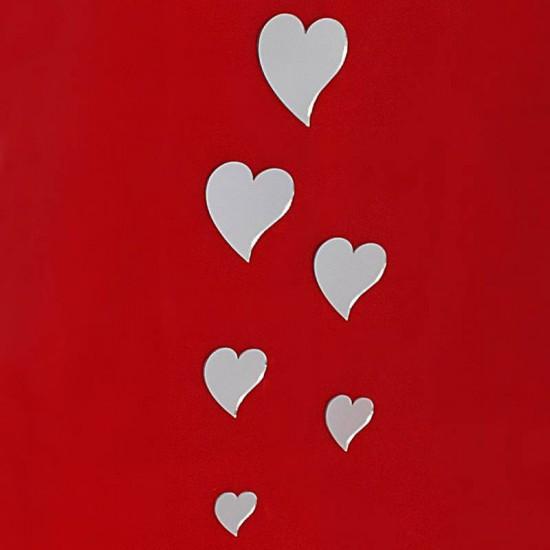 Pleksi Ayna Dekoratif Kalpler Duvar Süsü