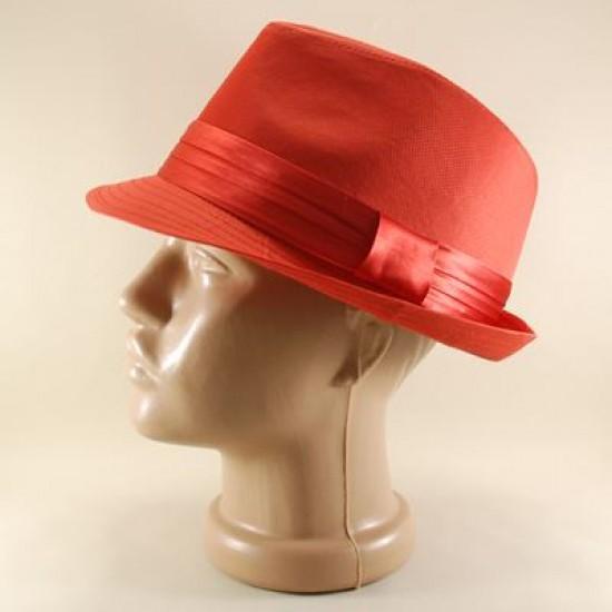 Ateş Kırmızısı Fötr Şapka