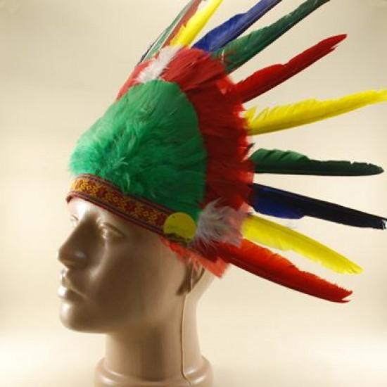 Renkli Tüylü Kızılderili Başlığı Küçük Boy