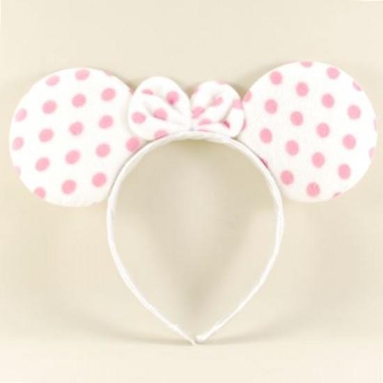 Minnie Mouse Beyaz Puantiyeli Taç