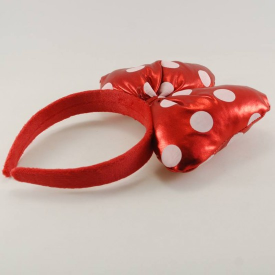 Minnie Mouse Kırmızı Puantiyeli Fiyonk Taç