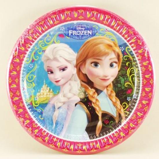 Frozen Temalı Orjinal Lisanslı Kağıt Tabak 8 Adet