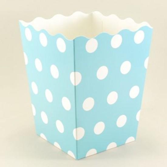 Mavi Puantiyeli Popcorn Kovası 10 lu Paket