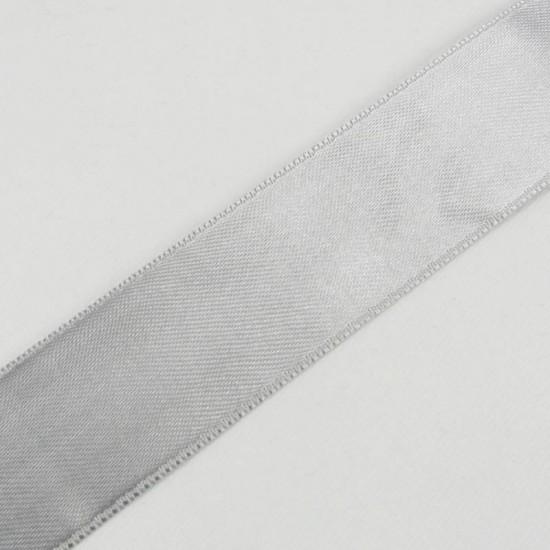 Gümüş Gri Saten Kurdela 3 Cm. X 10 Metre